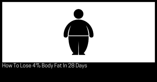 How To Lose 4% Body Fat In 28 Days