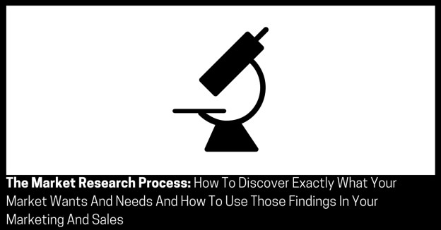 The Market Research Process How To Discover Exactly What Your Market Wants And Needs And How To Use Those Findings In Your Marketing And Sales